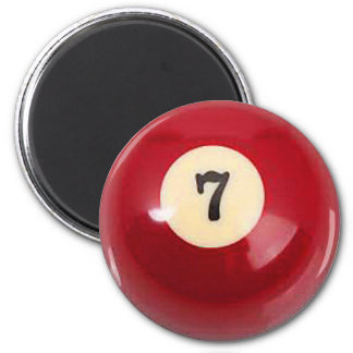 """7 Ball"" pool ball design gifts and products Magnet"