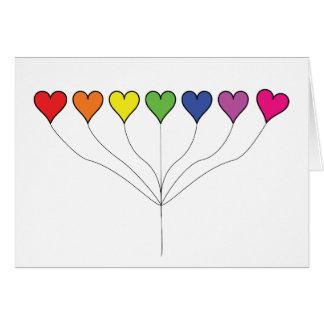 7 Balloon Hearts (2) Birthday Card