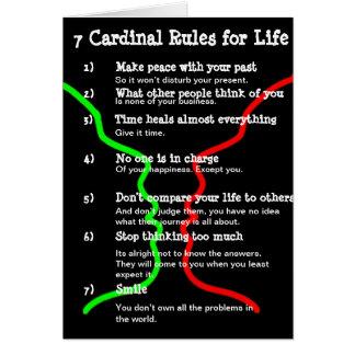 7 Cardinal Rules for LIFE Card