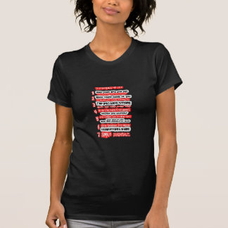 7 CARDINAL RULES FOR LIFE  Graphic Art Wisdom Text T-Shirt