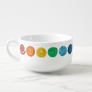 7 Chakras #1 Clearing Artwork Soup Mug