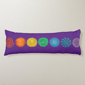 7 Chakras #1 Horizontal Design Body Pillow