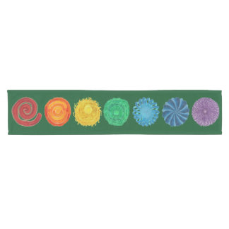 7 Chakras #1 original artwork Short Table Runner