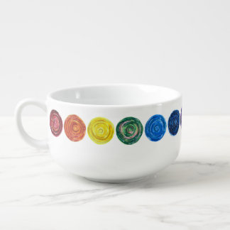 7 Chakras #2 healing artwork Soup Mug