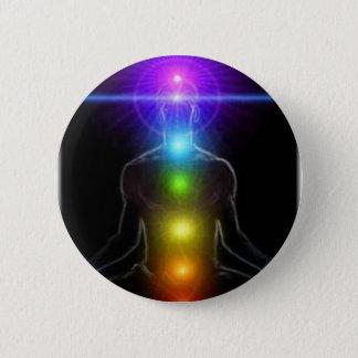 7 Chakra's 2 Inch Round Button