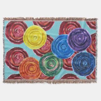 7 Chakras #2 Rainbow Colors Throw Blanket