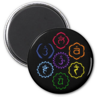 7 Chakras in a Circle 2 Inch Round Magnet