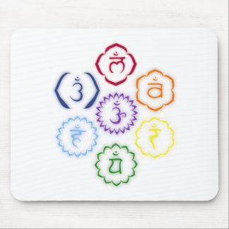 7 Chakras in a Circle Mouse Pad