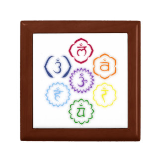 7 Chakras in Circle Trinket Boxes