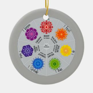 7 Chakras Wheel Ceramic Ornament