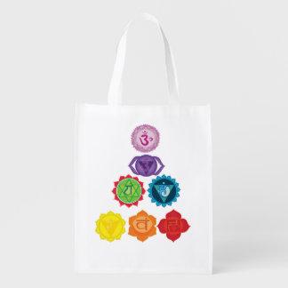 7 Chakras Yoga Reusable Bag Reusable Grocery Bag