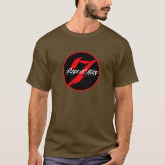 7 Days of May Round Logo T T-Shirt
