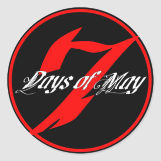 7 Days of May Stickers