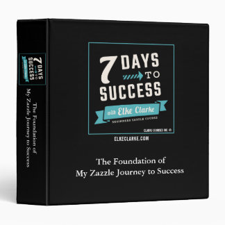 7 Days to Success Beginners Zazzle Course Vinyl Binders