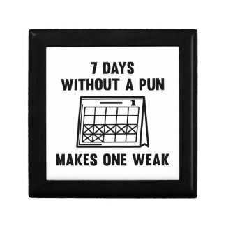 7 Days Without A Pun Gift Box