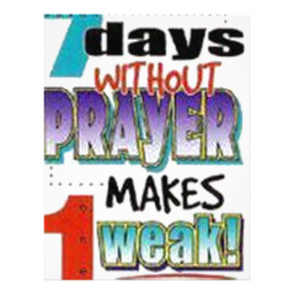 7 Days Without Prayer Letterhead