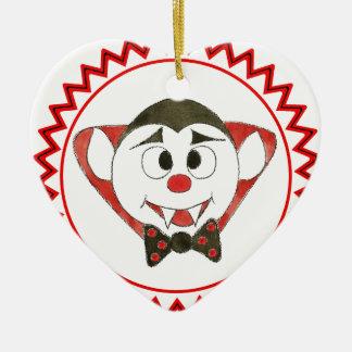 7 Dracula zig zag.jpg Ceramic Heart Ornament