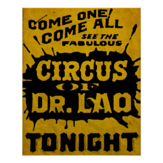 7 Faces of Dr Lao Circus Flyer Poster