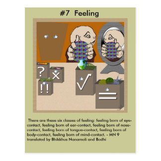 #7 Feelings -  from Dependent Arising Postcard