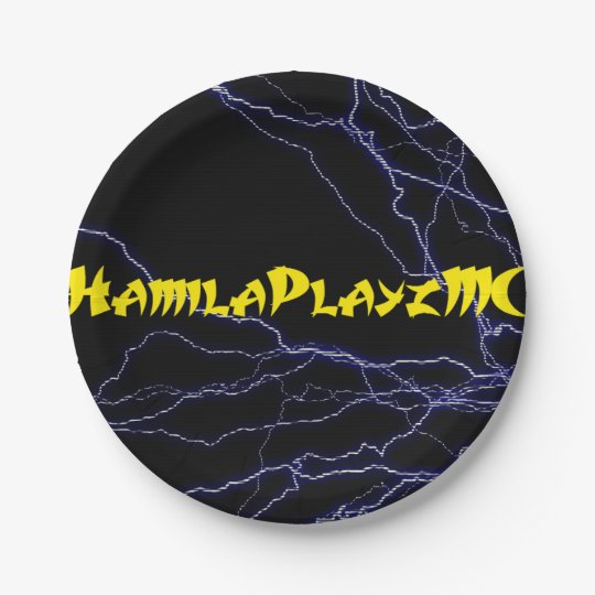 "7"" HamilaPlayzMC Paper Plates 7 Inch Paper Plate"