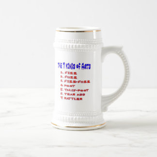 7 KINDS OF FARTS BEER STEIN