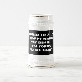 7 mots à un long et heureux mariage - Stein Chope À Bière