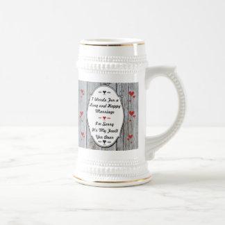 7 mots pour un long et heureux mariage chope à bière