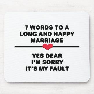 7 mots pour un long et heureux mariage tapis de souris