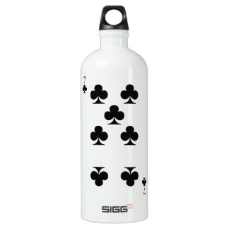 7 of Clubs Water Bottle