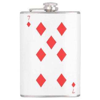 7 of Diamonds Flasks