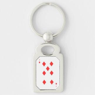 7 of Diamonds Keychain