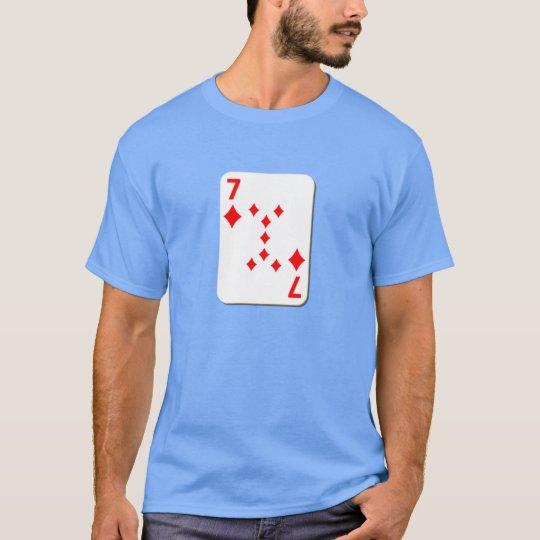 7 of Diamonds Playing Card T-Shirt