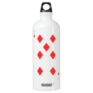 7 of Diamonds Water Bottle