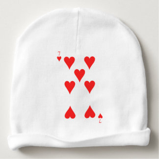 7 of Hearts Baby Beanie