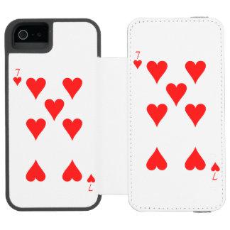 7 of Hearts Incipio Watson™ iPhone 5 Wallet Case