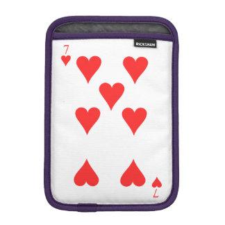7 of Hearts iPad Mini Sleeve