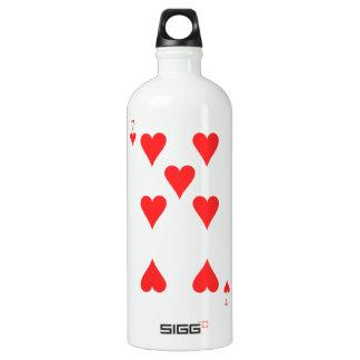 7 of Hearts Water Bottle