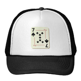 7 of Spades Playing Card Trucker Hat