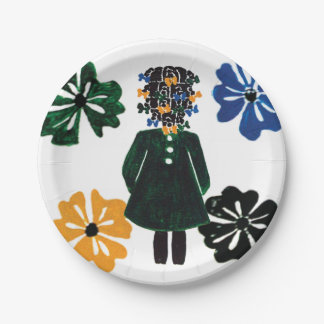 """7"""" paper plates by Rose Hill"""