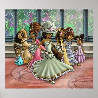"""""""7 princesses """" poster"""