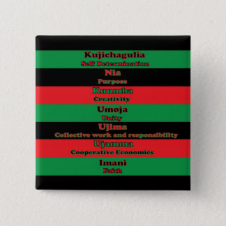7 Principles of Kwanzaa Button