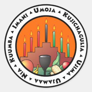 7 Principles of Kwanzaa Classic Round Sticker