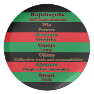 7 Principles of Kwanzaa Plate