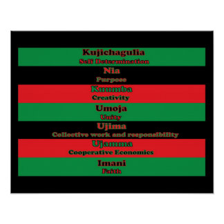 7 Principles of Kwanzaa (Vertical) Poster