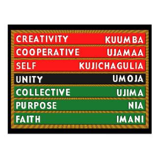 7 Principles Postcard
