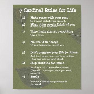 7 règles cardinales pendant la VIE Poster