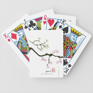 7 sakura blossoms with 7 birds, tony fernandes bicycle playing cards