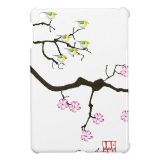 7 sakura blossoms with 7 birds, tony fernandes case for the iPad mini