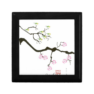 7 sakura blossoms with 7 birds, tony fernandes gift box