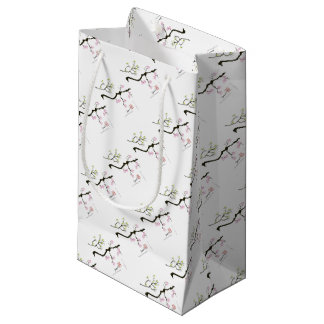 7 sakura blossoms with 7 birds, tony fernandes small gift bag